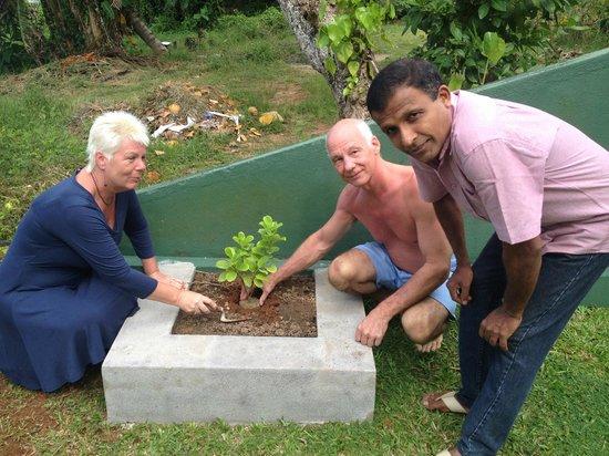 Riverside Inn Fuji Bentota : Planting Ceremony