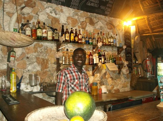 Demani Lodge: Desmond at the bar