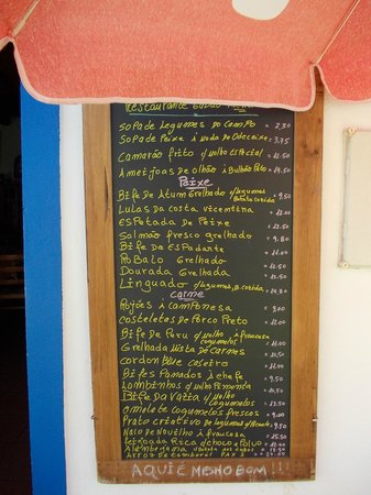 Taberna do Gabao: menukort udefor