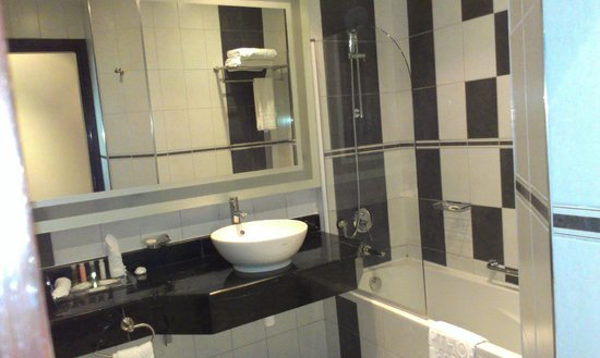 Copthorne Hotel Doha: shower in the bath