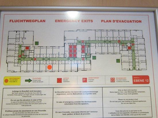Hilton Vienna: map of site