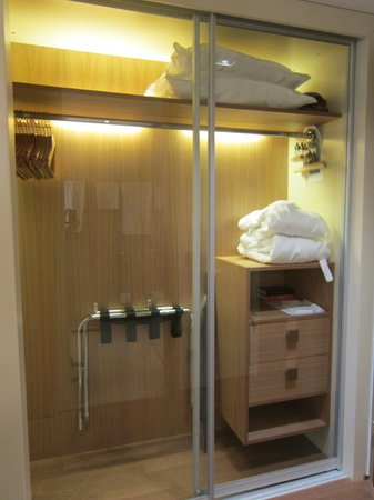 Steigenberger Hotel and Spa: closet - with glass doors...