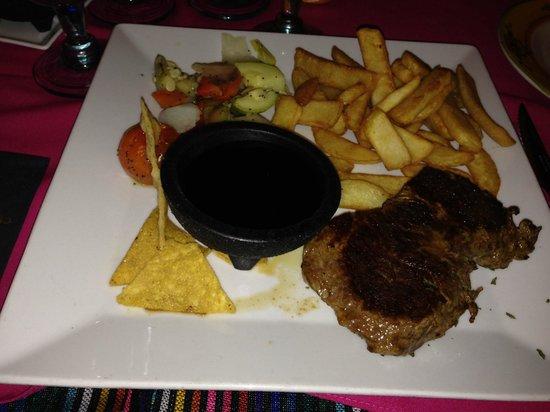 La Hacienda: My Sirloin Steak - evening meal, superb!