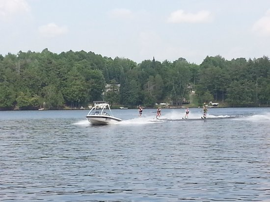Watersmeet, MI: Waterskiing during the July 4th 2013