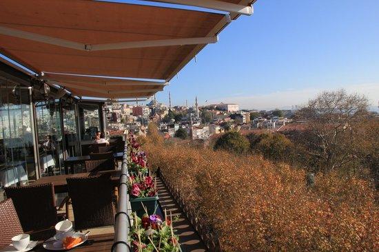 Ottoman Hotel Park: Roof Top Restaurant