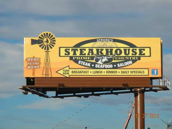 Stroke's Bar & Grill: New sign.