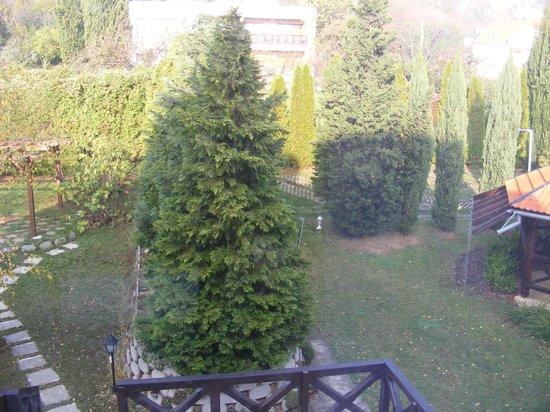 Hotel Pension Helios: Kitchen view on backyard with kids enterteiment