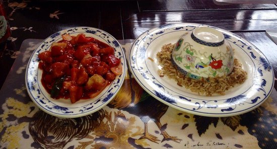 how to make sweet and sour chicken and fried rice