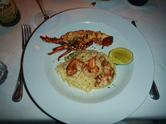 Amuleto : Lobster and shrimp risotto.