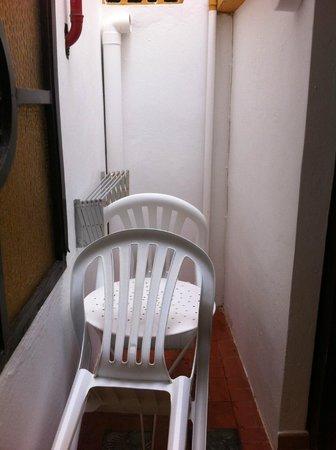 Casa del Sol: den sk balkongen!Väggar på alla sidor.