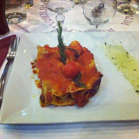 La Trattoria: Lasagnes aux légumes