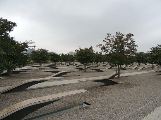 Pentagon Memorial : Memorial del Pentágono