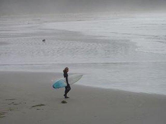 Long Beach: morning surfer