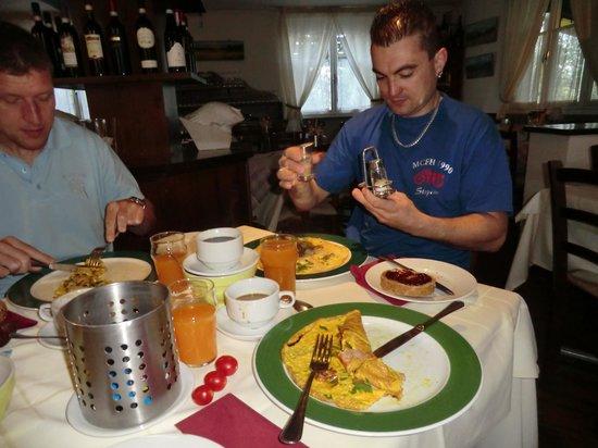 Pian del Bosco: Frühstück mit Wahlomlette