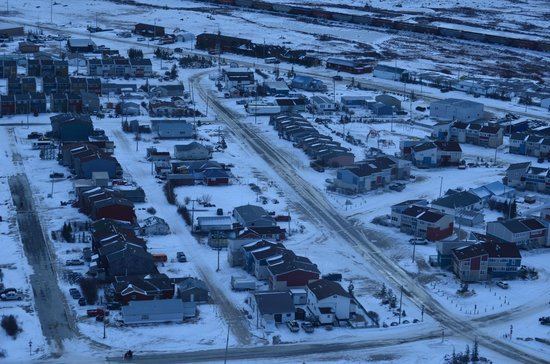 Bear Country Inn: An aerial view of Churchill.