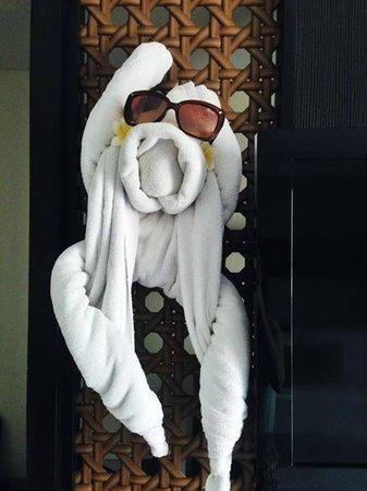 The Camakila Legian Bali: Another towel animal. I loved them!