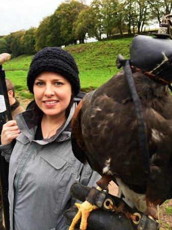 Edinburgh Falconry & Fishing: Kass and me