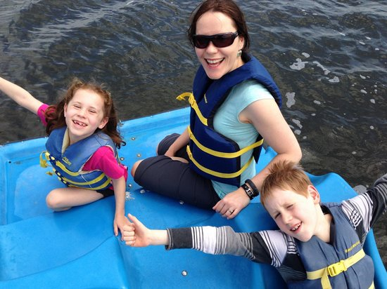 Shoreline Lake Boathouse & American Bistro : on the pedal boats