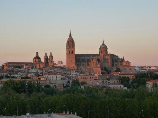 Parador de Salamanca: sunset view from room