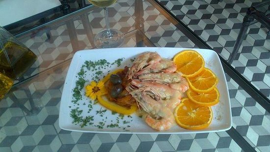 Giallo Limone : Gambas à l orange