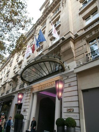 Front Of The Hotel Picture Of Paris Marriott Opera