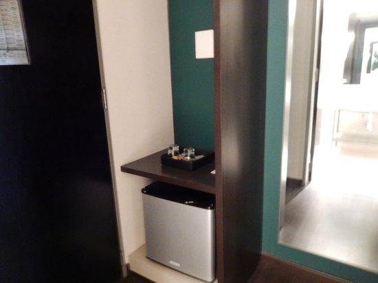 Esplendor Mendoza: Minibar - room door on left of photo