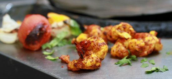 Cafe Bangla: tandoori king prawn shaslick