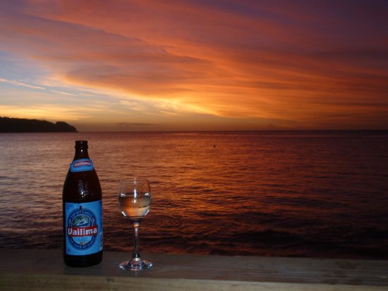 Savaii Lagoon Resort: Beautiful Sunset from Restaurant