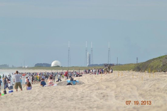 The View Of Slc 41 From Playalinda Beach