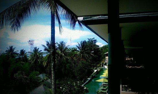 Kebun Villas & Resort: Balcony view from upper floor rooms