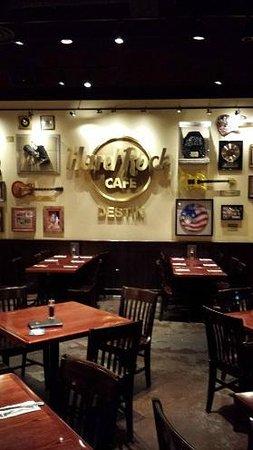 Hard Rock Cafe Destin: Inside, showing the rock and roll memorabilia