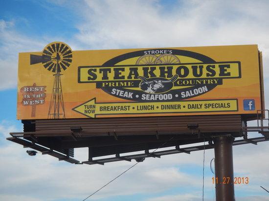 Stroke's Bar & Grill: New Billboard on Hwy 95