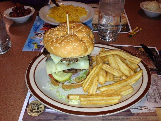 Denny's: Double cheeseburger.