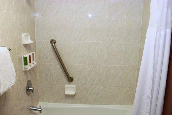 Drury Inn & Suites Dayton North: Shower and bathroom