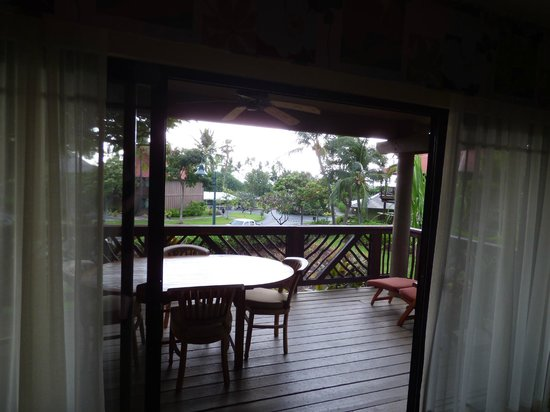 Wyndham Kona Hawaiian Resort: Vom Wohnzimmer auf den Lanai