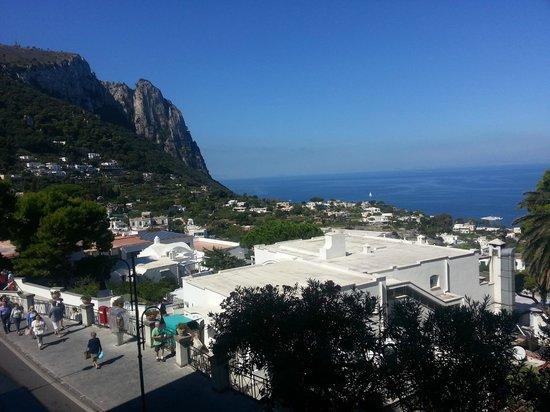 Hotel Capri: View from duplex room balcony