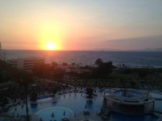Atrium Platinum Hotel: View from room at sunset