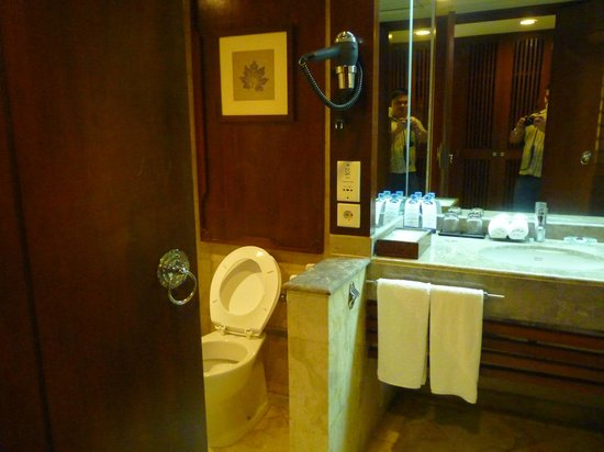 Melia Bali Indonesia: Clean bathroom, but a bit small for the price of the hotel.