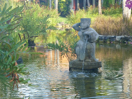 Melia Bali: One of many ponds and fountains in the property