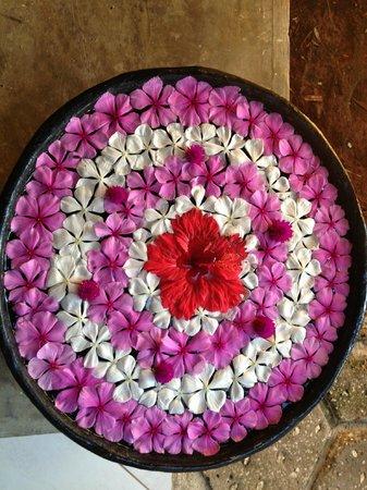 Neptune Pwani Beach Resort & Spa: beautiful flowers at spa