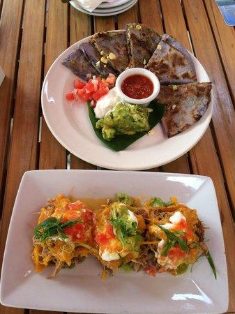 Tiki's Grill & Bar: Quesadillas and nacho bites