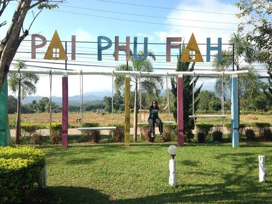 Pai Phu Fah Resort: The welcome sign