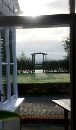Larkbeare Grange: View from the dining room