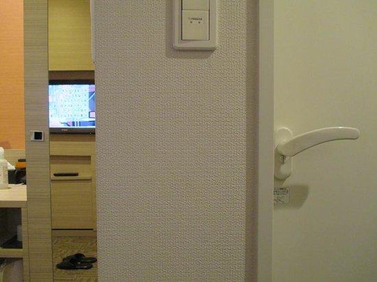 Via Inn Shinsaibashi: クローゼットの扉の表に姿見がついている。
