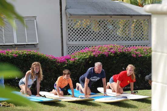 Boosy's Surf School: Learning the basics on the grass