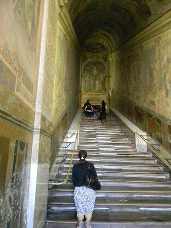 Scala Santa and Chapel of San Lorenzo: Святая лестница.