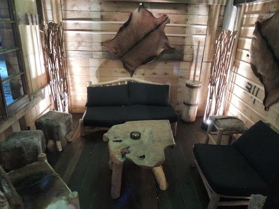 Le Moulin de Lily: chalet lounge