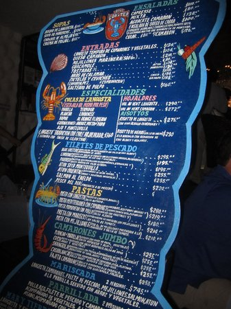 Blue Lobster : The menu