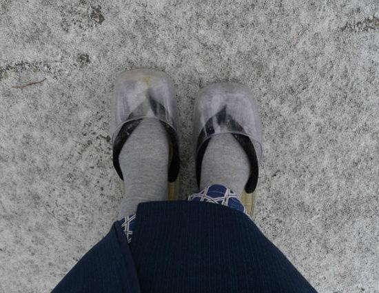 Honjin Hiranoya Annex: 防雪夾腳拖鞋