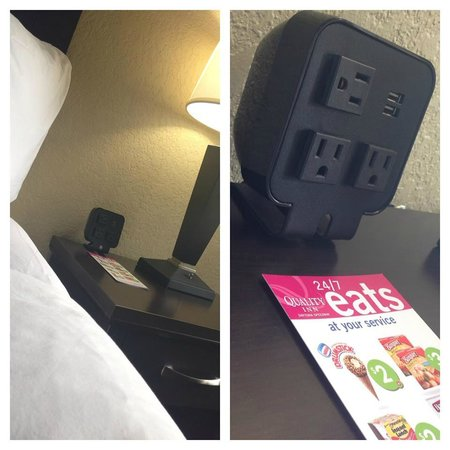 Quality Inn Daytona Speedway: Electronic Device Charging Station in All Rooms